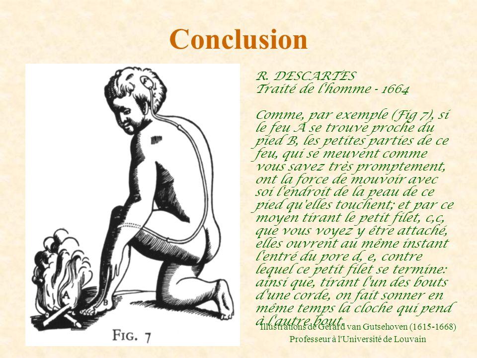 Conclusion R. DESCARTES Traité de l homme - 1664