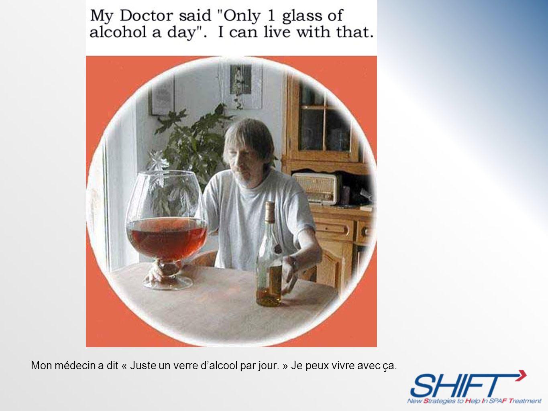 Mon médecin a dit « Juste un verre d'alcool par jour