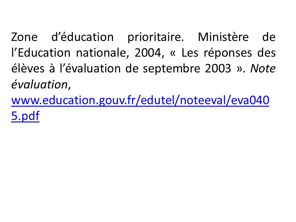 Zone d'éducation prioritaire