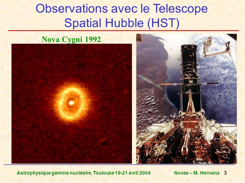 Observations avec le Telescope Spatial Hubble (HST)