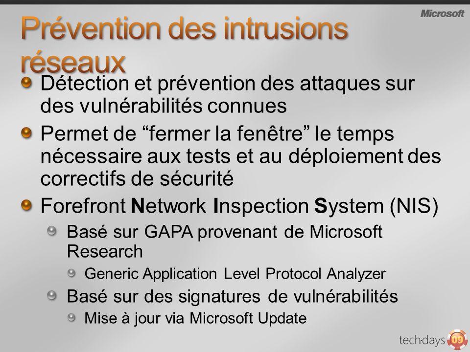 Prévention des intrusions réseaux