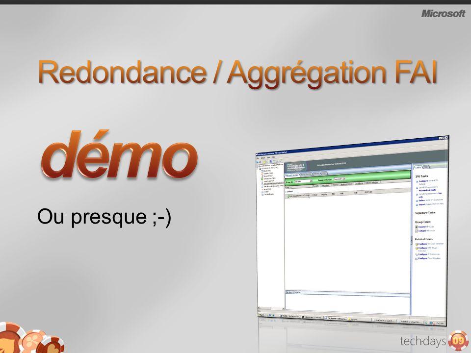 Redondance / Aggrégation FAI