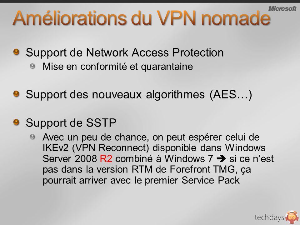 Améliorations du VPN nomade