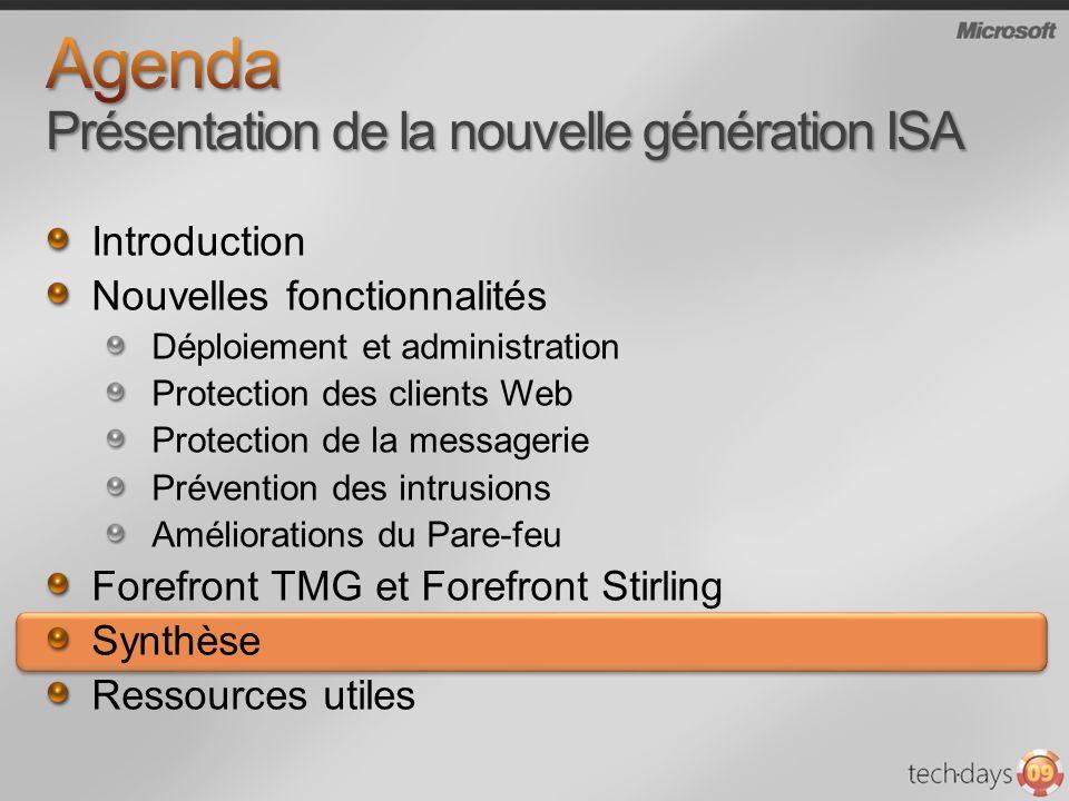 Agenda Présentation de la nouvelle génération ISA
