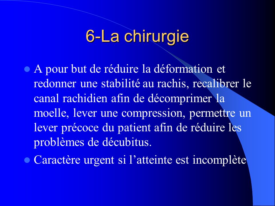 6-La chirurgie