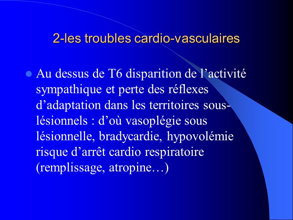 2-les troubles cardio-vasculaires