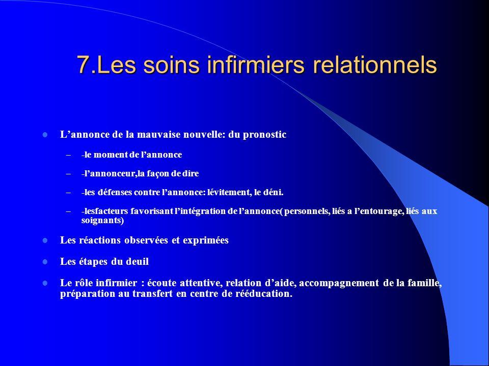 7.Les soins infirmiers relationnels