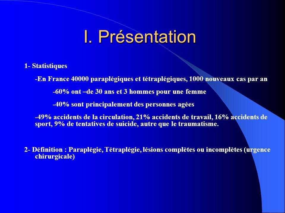 I. Présentation 1- Statistiques