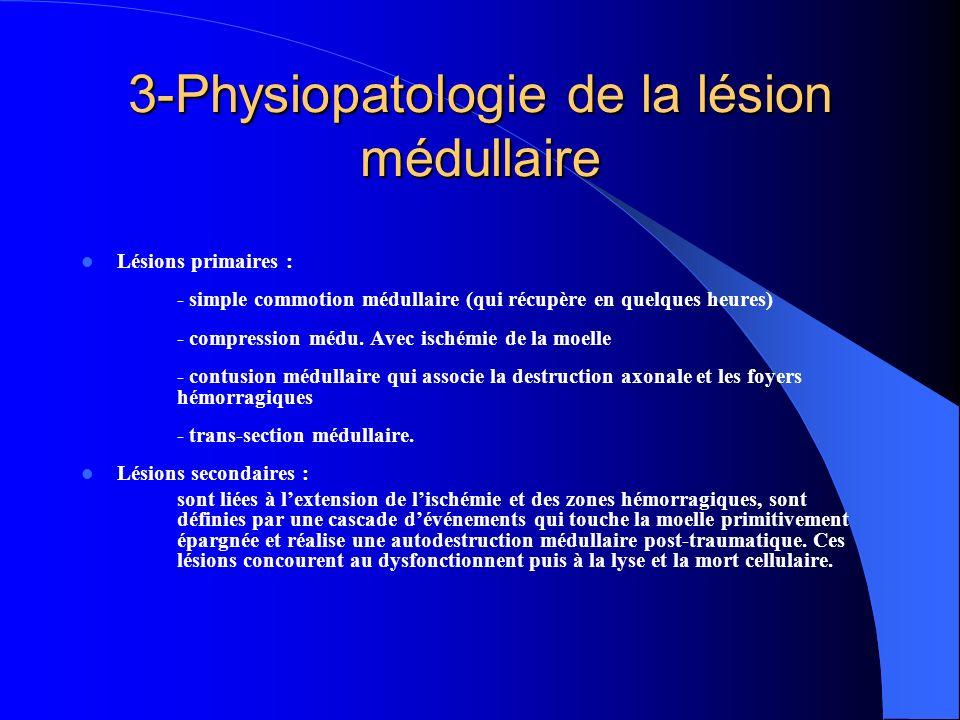 3-Physiopatologie de la lésion médullaire
