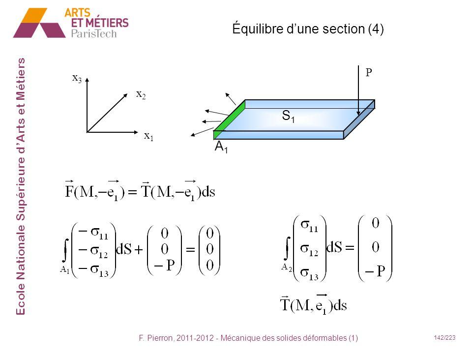 Équilibre d'une section (4)