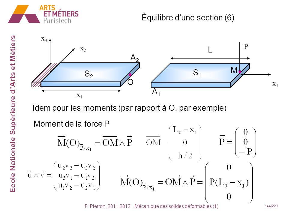 Équilibre d'une section (6)