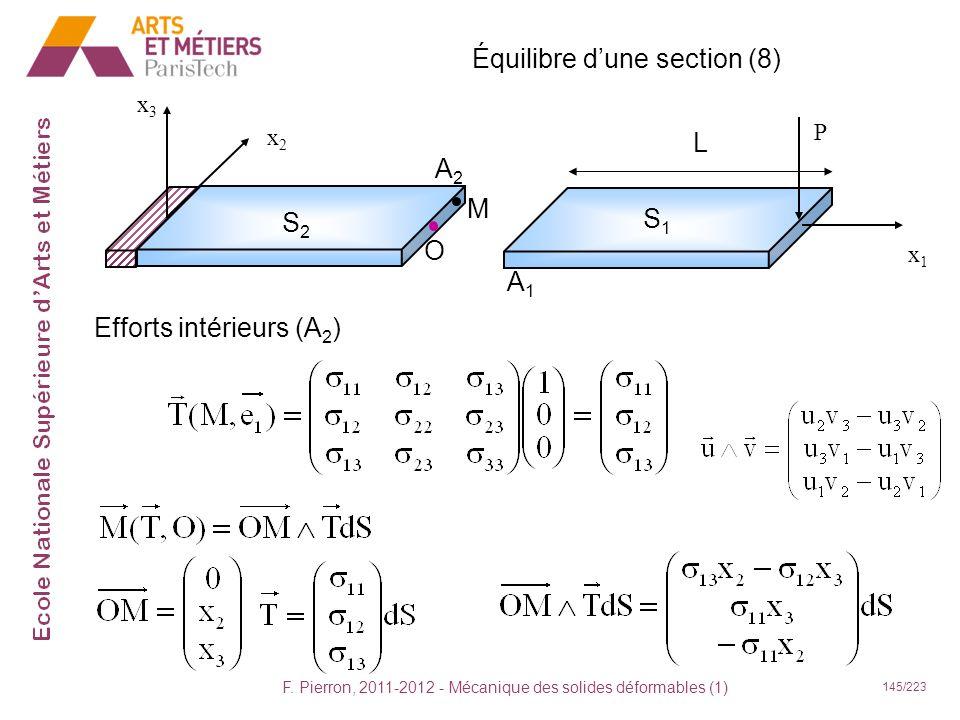 Équilibre d'une section (8)