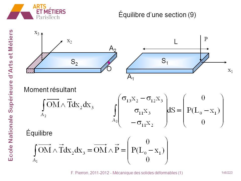 Équilibre d'une section (9)