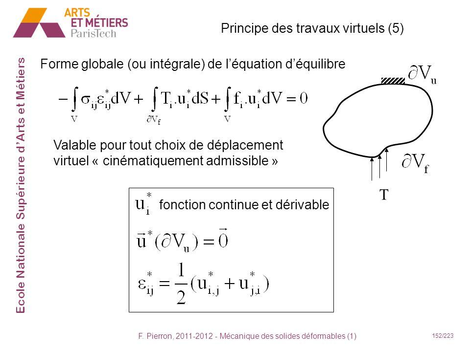 T Principe des travaux virtuels (5)