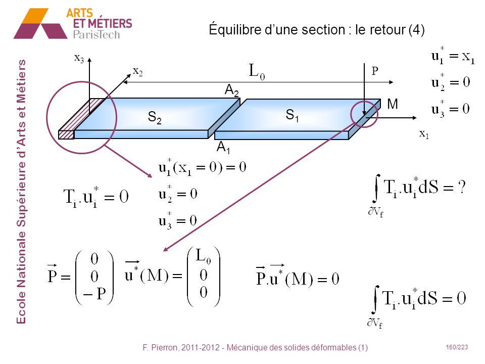 Équilibre d'une section : le retour (4)