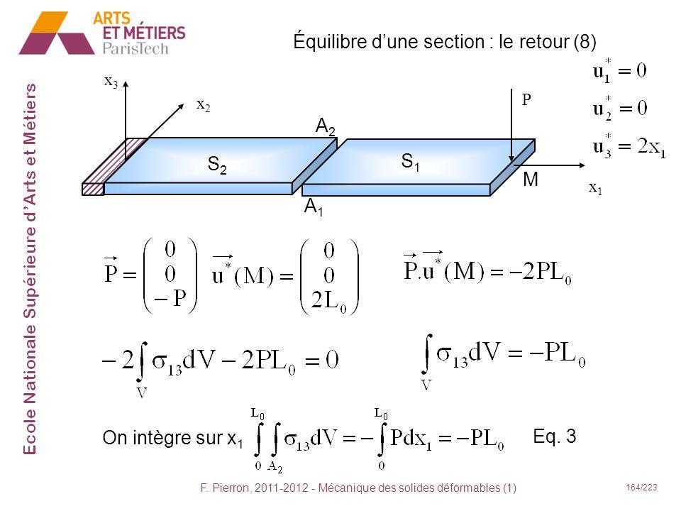 Équilibre d'une section : le retour (8)