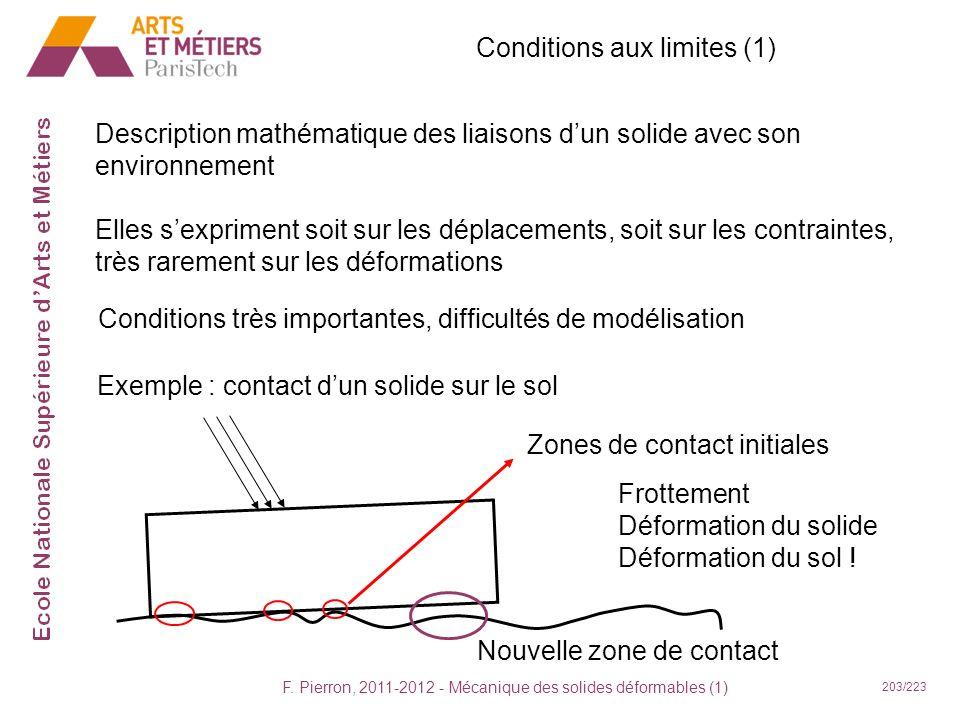 Conditions aux limites (1)