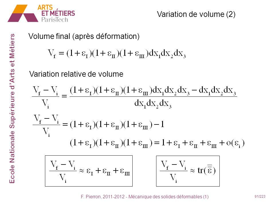 F. Pierron, 2011-2012 - Mécanique des solides déformables (1)