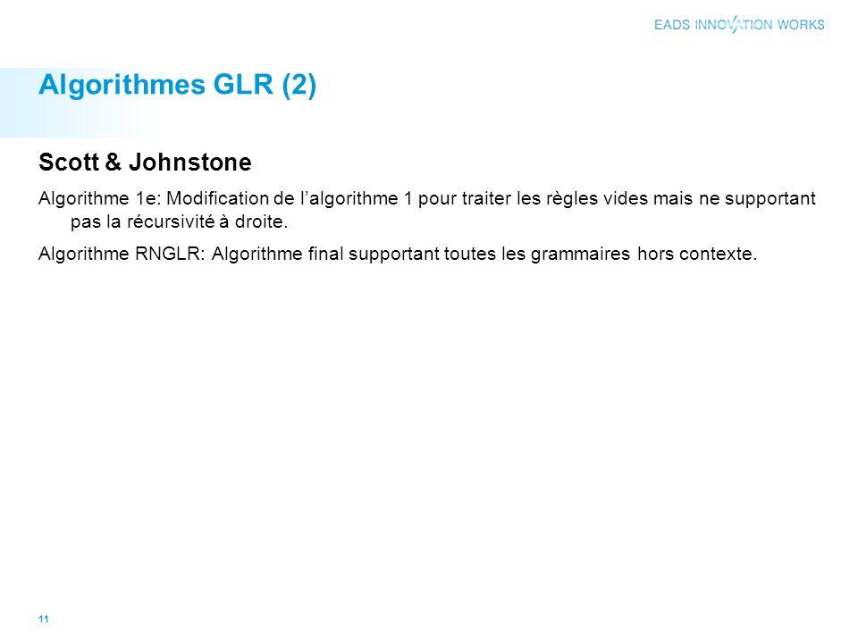 Algorithmes GLR (2) Scott & Johnstone