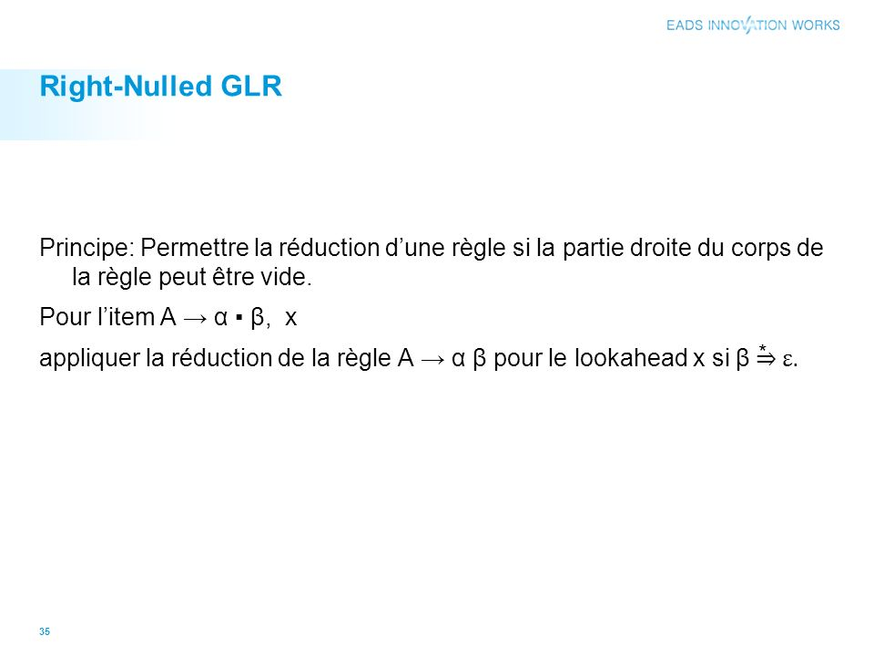 Right-Nulled GLR