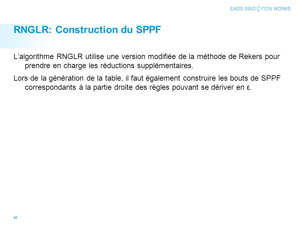 RNGLR: Construction du SPPF