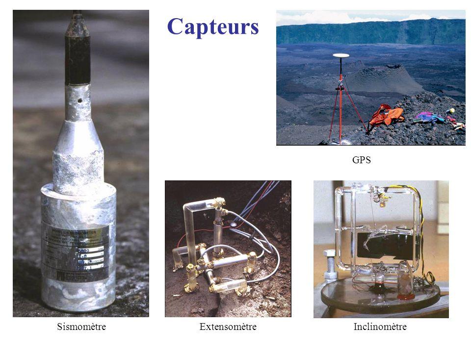 Capteurs GPS Sismomètre Extensomètre Inclinomètre