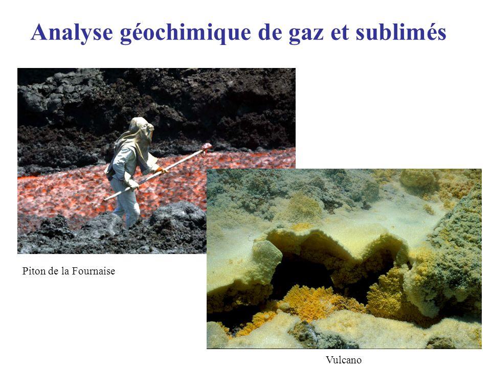 Analyse géochimique de gaz et sublimés