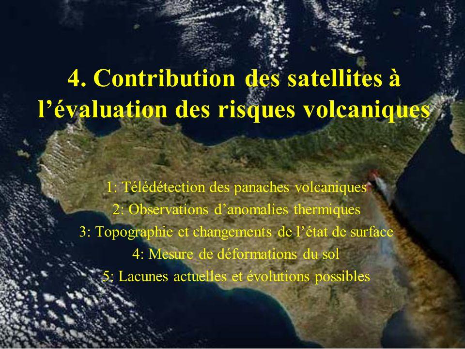 4. Contribution des satellites à l'évaluation des risques volcaniques