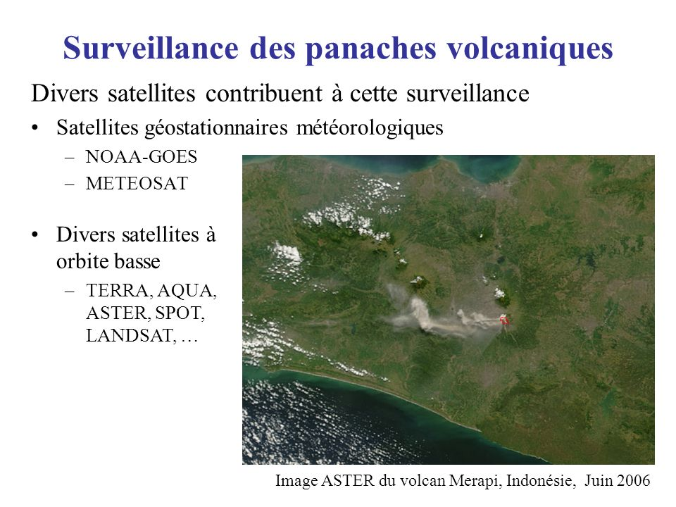 Surveillance des panaches volcaniques