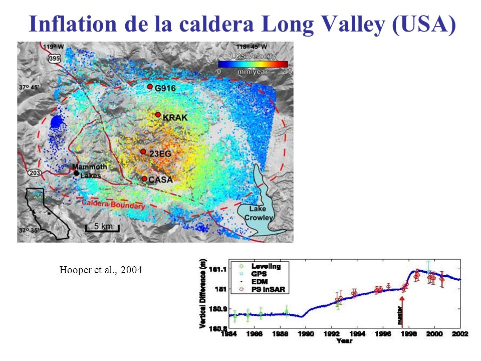 Inflation de la caldera Long Valley (USA)