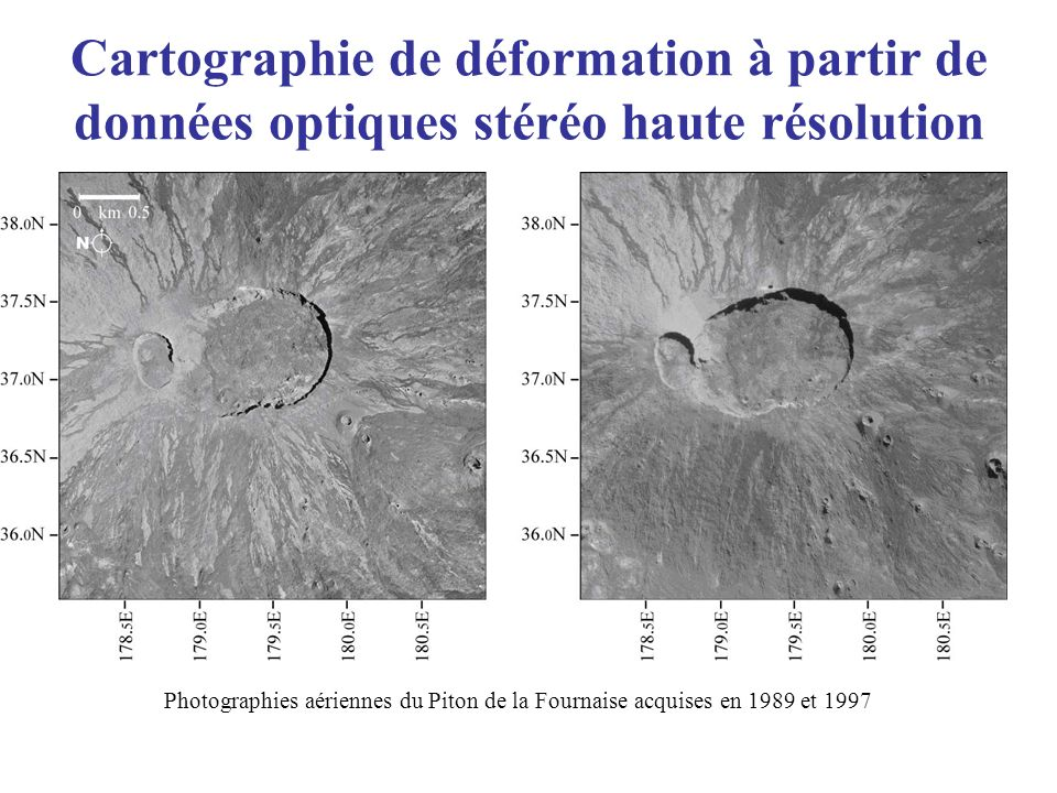 Cartographie de déformation à partir de données optiques stéréo haute résolution