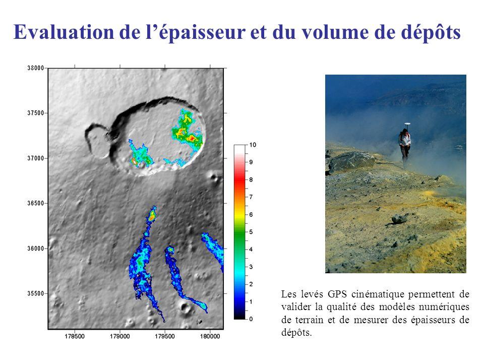 Evaluation de l'épaisseur et du volume de dépôts