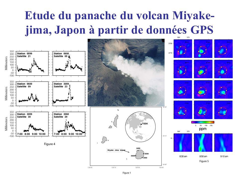 Etude du panache du volcan Miyake-jima, Japon à partir de données GPS