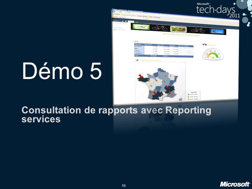 Consultation de rapports avec Reporting services
