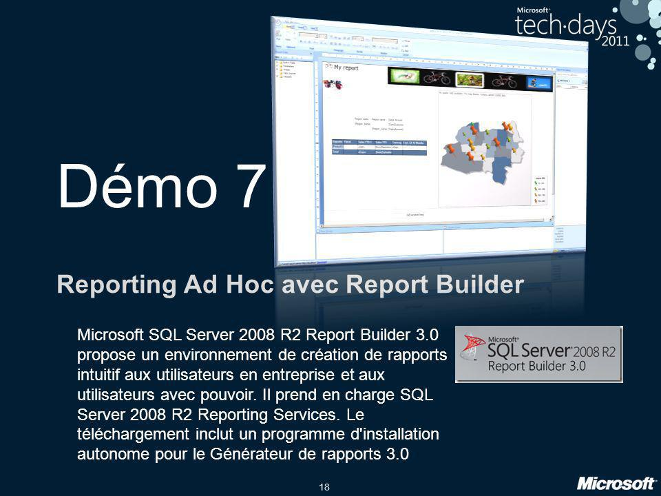 Reporting Ad Hoc avec Report Builder