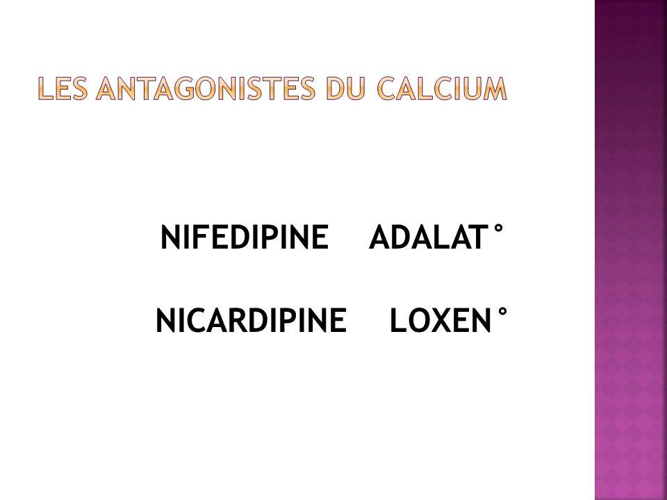 LES ANTAGONISTES DU CALCIUM