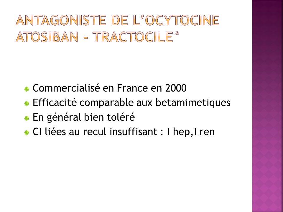 ANTAGONISTE DE L'OCYTOCINE ATOSIBAN - TRACTOCILE°