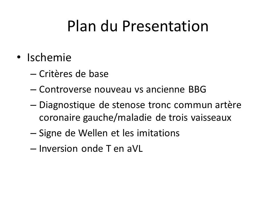 Plan du Presentation Ischemie Critères de base