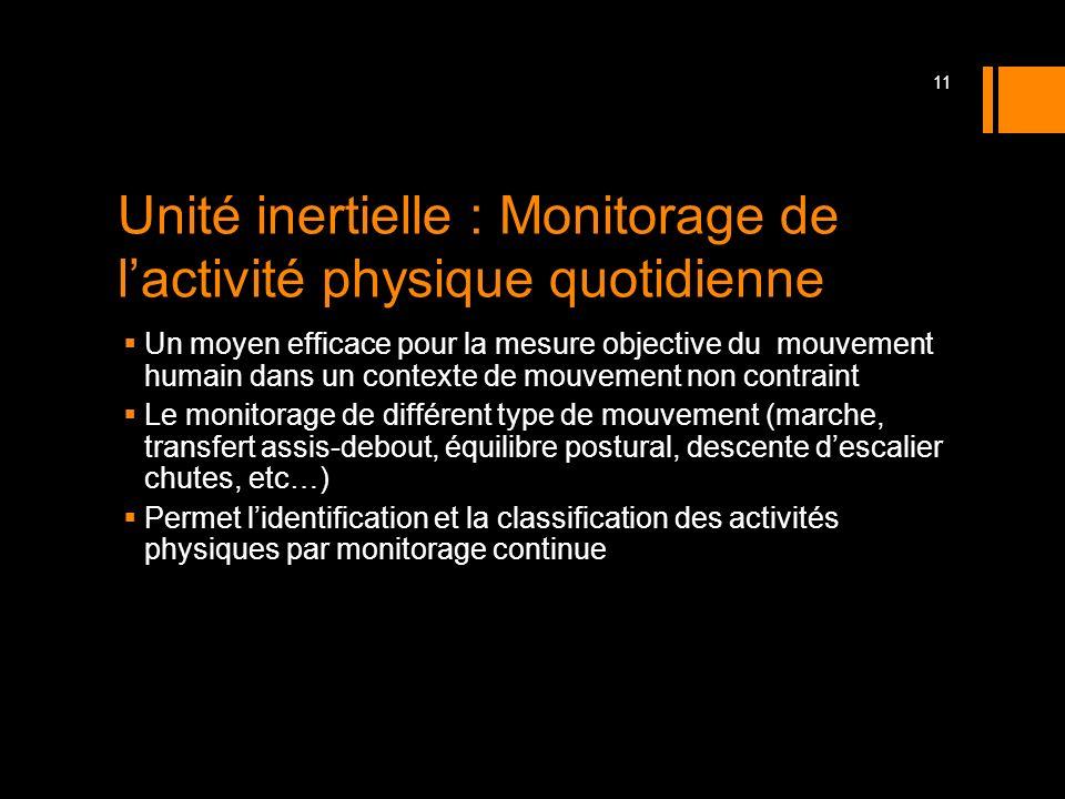 Unité inertielle : Monitorage de l'activité physique quotidienne