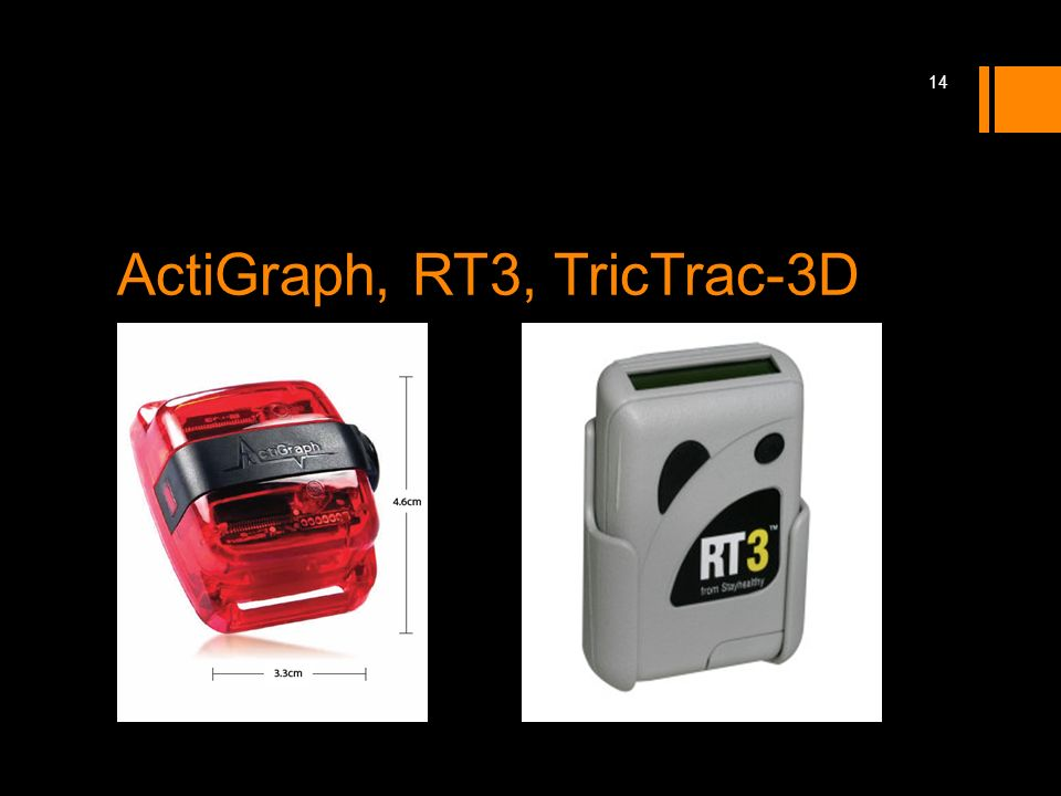 ActiGraph, RT3, TricTrac-3D