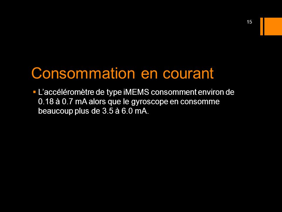 Consommation en courant