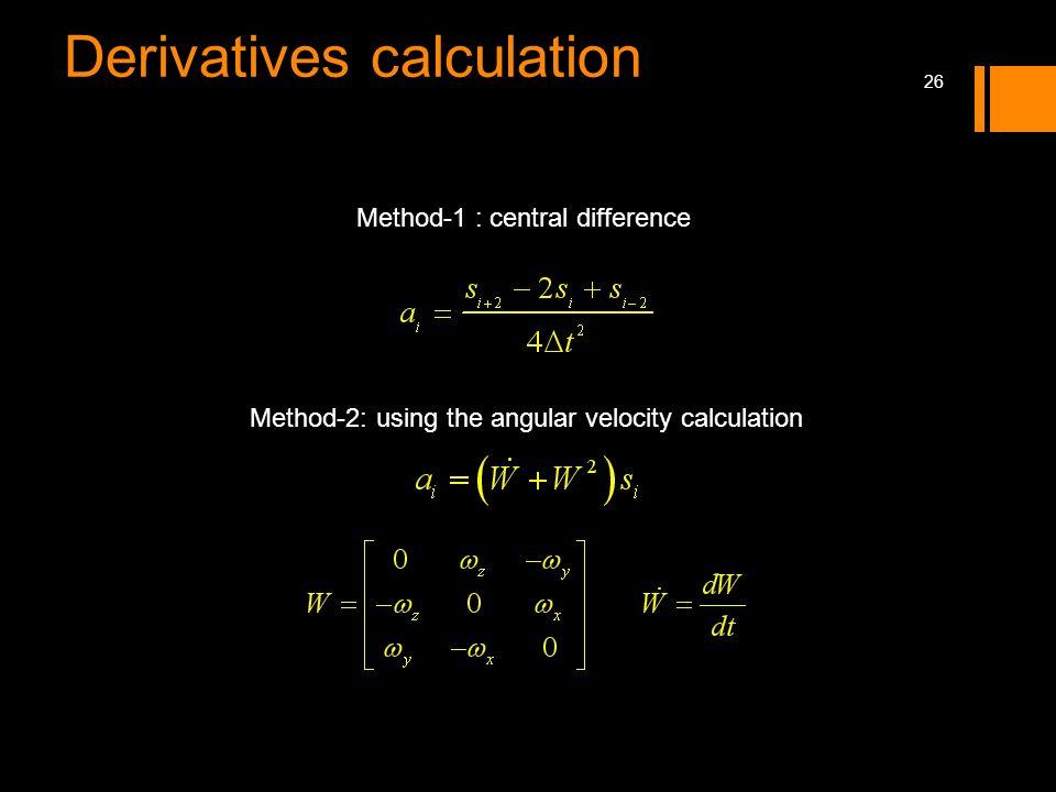 Derivatives calculation