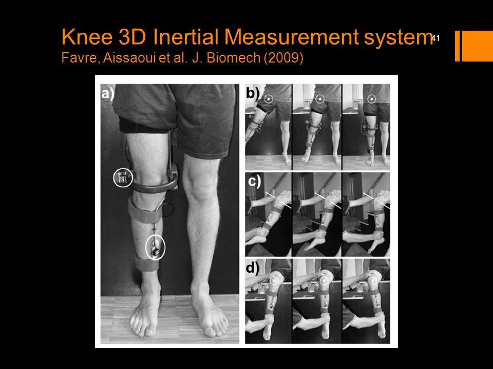 Knee 3D Inertial Measurement system Favre, Aissaoui et al. J