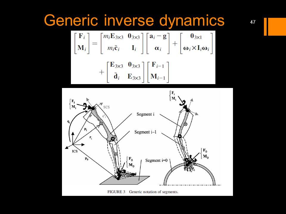 Generic inverse dynamics