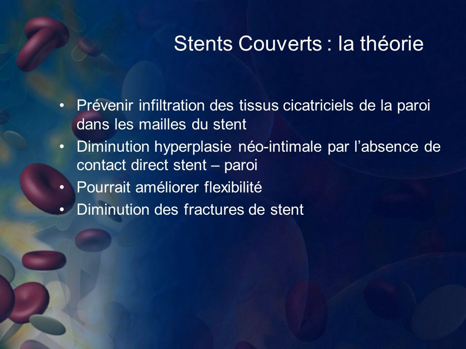 Stents Couverts : la théorie