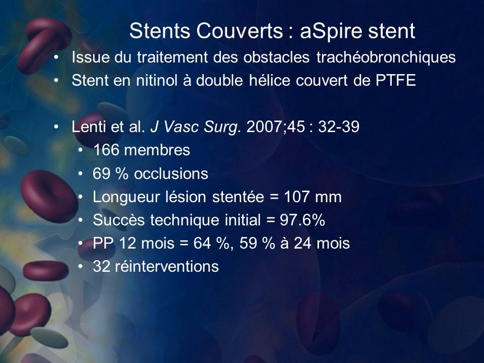 Stents Couverts : aSpire stent