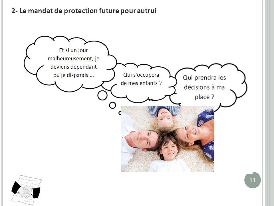 2- Le mandat de protection future pour autrui