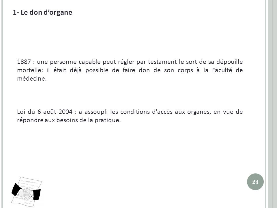 1- Le don d'organe