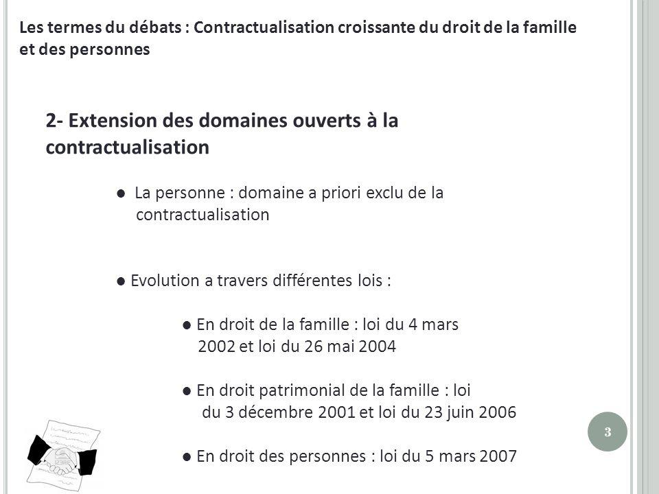 2- Extension des domaines ouverts à la contractualisation
