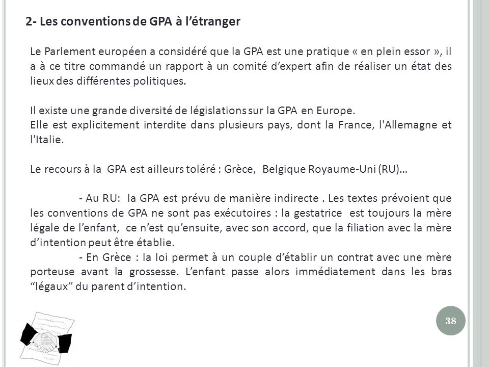 2- Les conventions de GPA à l'étranger